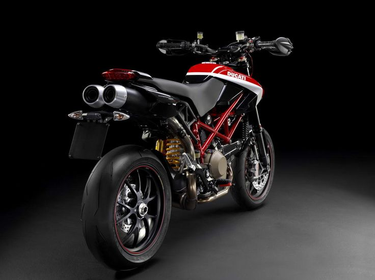 The 2012 Hypermotard 1100EVO SP will now be available as a Corse Edition, taking the whole Hypermotard concept to a higher level in Ducati Corse style. Description from totalmotorcycle.com. I searched for this on bing.com/images