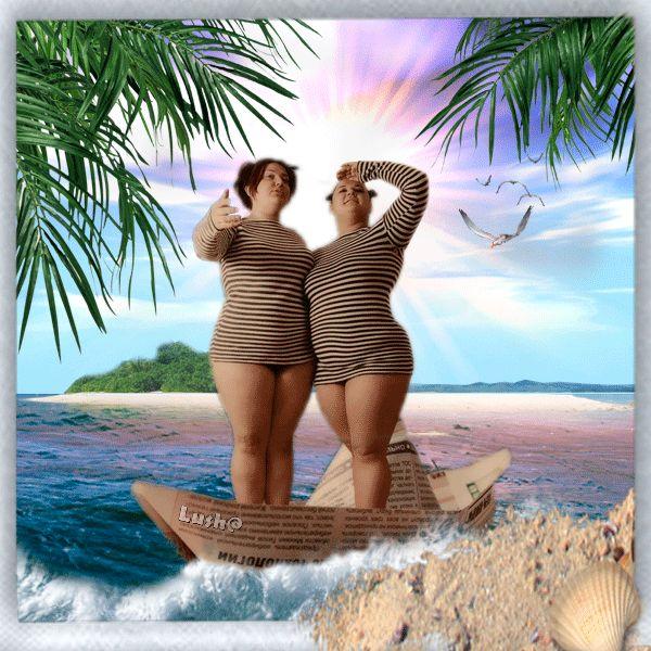 Курбан-байрам, прикольные картинки с отдыхом на море с женщинами
