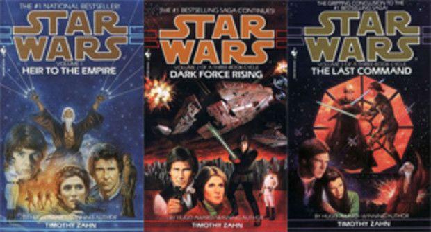 """Star Wars: La Trilogía de Thrawn_ Timothy Zahn.  """"El Heredero del Imperio"""", """"El Resurgir de la Fuerza Oscura"""" y """"La Ultima orden"""", Trilogía sobre la guerra de las Galaxias ubicada cronológicamente después de """"El Retorno del Jedi"""" libros divertidos, llenos de acción, aventuras, imprescindibles para fanáticos de Star Wars. En mi opinión, ahora que Lucasfilms es propiedad de Disney, esta es la historia que mas papeletas tiene de convertirse en películas."""