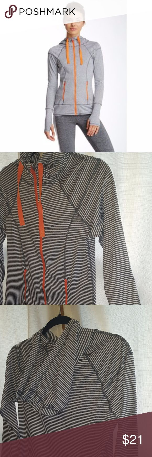90 Degree by Reflex Striped Hoodie Super cute and comfy with thumb holes. Worn a couple of times, like new! 90 Degree By Reflex Tops Sweatshirts & Hoodies