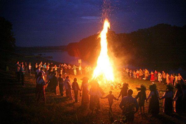 Kupalo festival bonfire rituals.