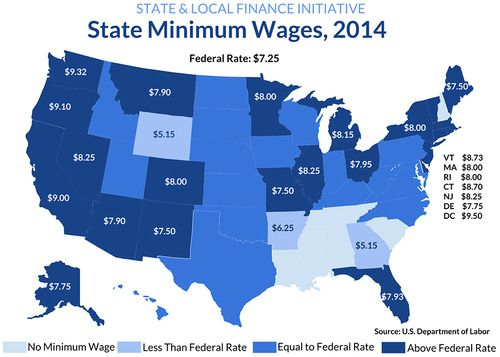 the united states government on the issue of minimum wage Eight states with the highest minimum  that if the united states raises the minimum wage to $  among the 50 states, poverty remains an issue.