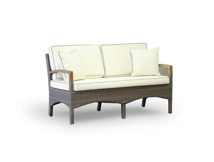 """""""Верона"""" ,  63363, диван двухместный в комплекте с подушками, алюминиевый каркас, искуственный ротанг, размеры 1500х750х840, цвет серо коричневый             Метки: Диваны садово парковые, Садовые диваны из ротанга.              Объем: 0,945.              Материал: Ткань, Пластик, Дерево.              Бренд: 4SiS.              Стили: Классика и неоклассика.              Цвета: Бежевый, Коричневый, Темно-коричневый."""