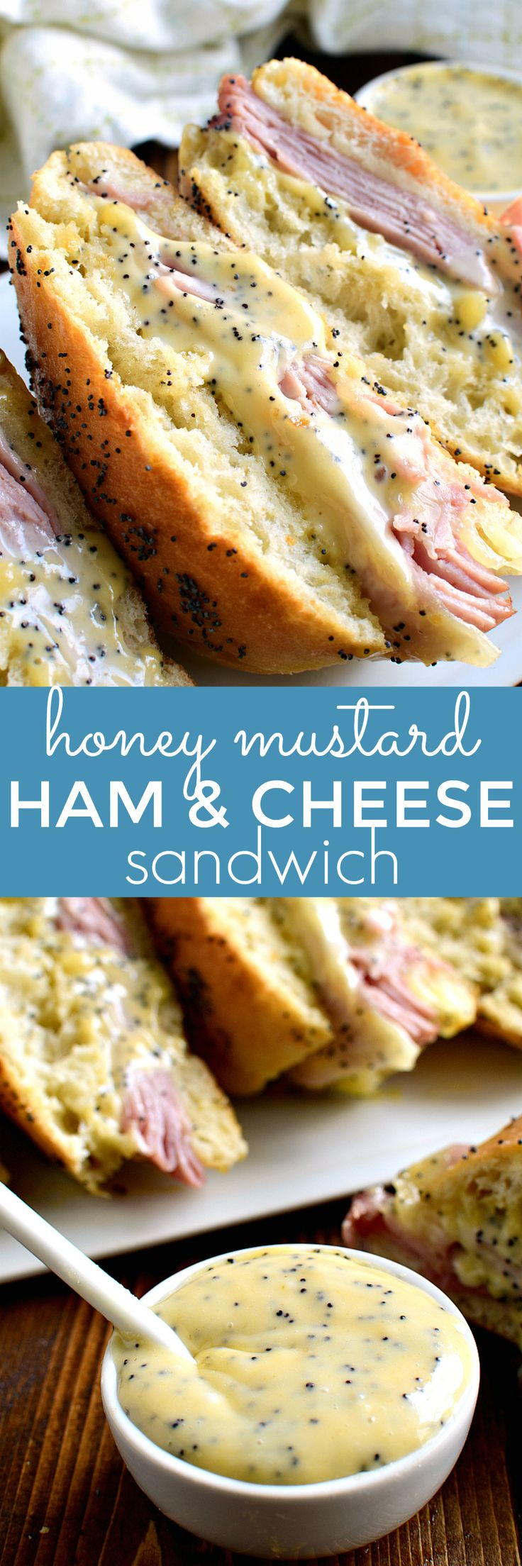 If you love honey mustard, this Honey Mustard Ham & Cheese Sandwich is for you! Perfect for lunch or dinner....a delicious twist on a classic!