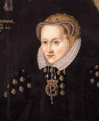 Grevinnan Beata Stenbock (1533-1583) g 1549 m. greve Per Brahe d.ä. Oljemålning på duk.