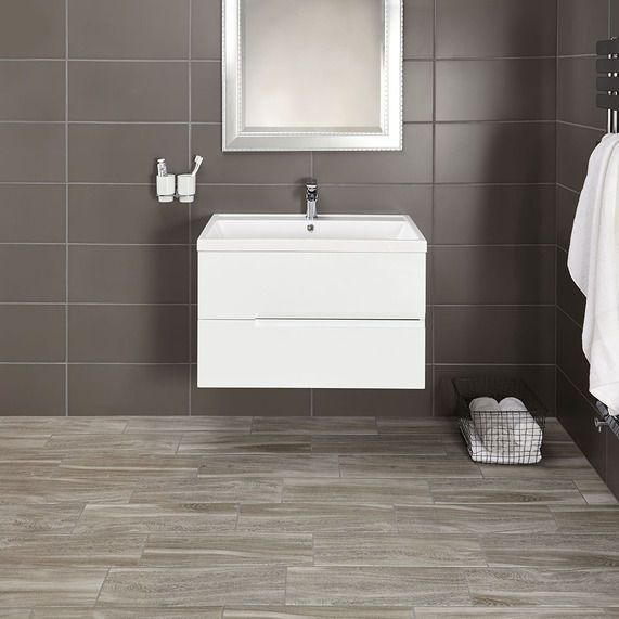 Vermont 800 Basin And Gloss White Wall Mounted Vanity Unit | bathstore