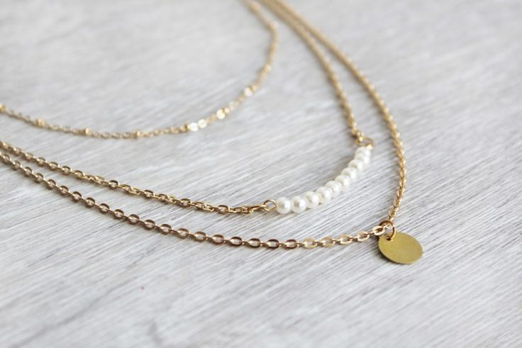 Elegante Layered Doppelkette im Ethnostil von pure and honey auf DaWanda.com