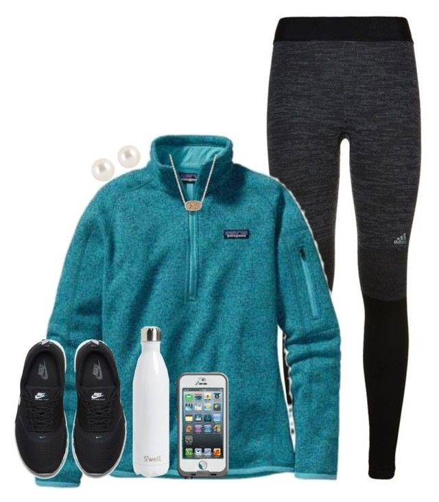 """""""Boys """" by hmcdaniel01 ❤ liked on Polyvore featuring adidas, Patagonia, NIKE, S'well, LifeProof, Henri Bendel, Kendra Scott, women's clothing, women's fashion and women"""