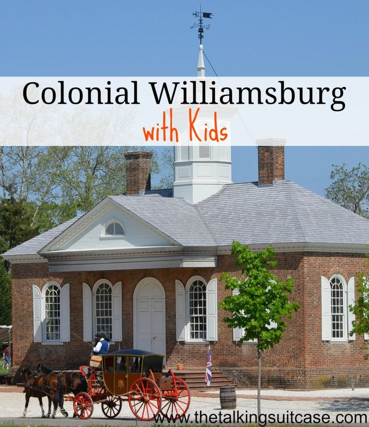 Think kids will get bored with all the history in Williamsburg, VA?  Check out these idea for visiting Colonial Williamsburg WITH kids.  The entire family can enjoy this amazing city together!  My 2 kids love Wiliamsburg and all it has to offer! USA