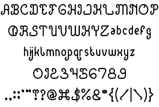 Image for green avocado font