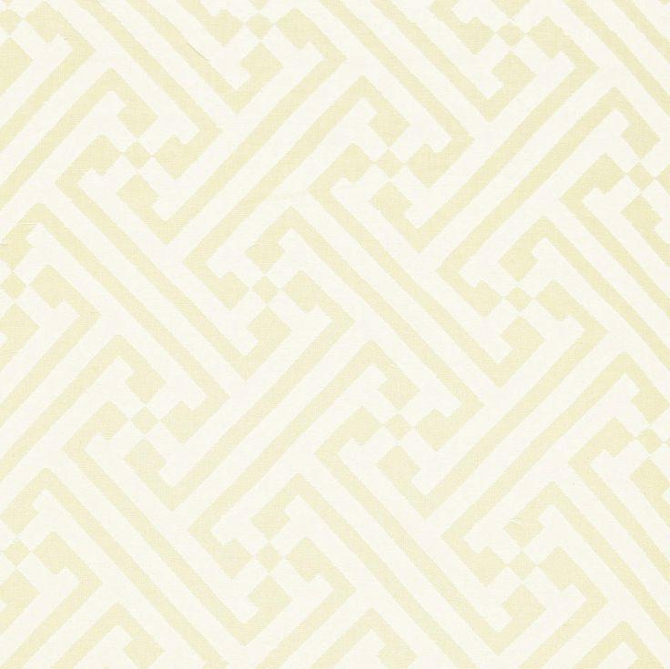 cream and white fretwork wallpaper