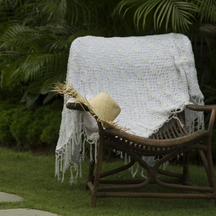 The rectangle crochet towel now comes in white