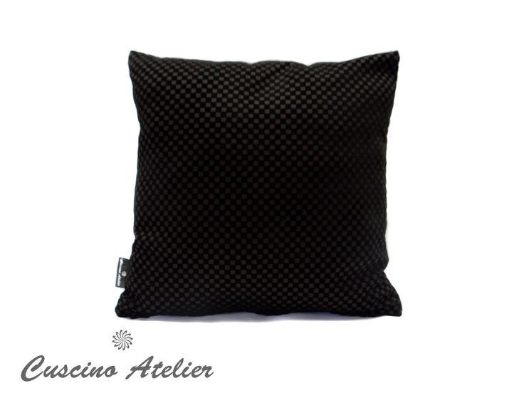 poduszka dekoracyjna  poduszka ozdobna Cuscino Atelier poduszka z wkładem poszewka flok