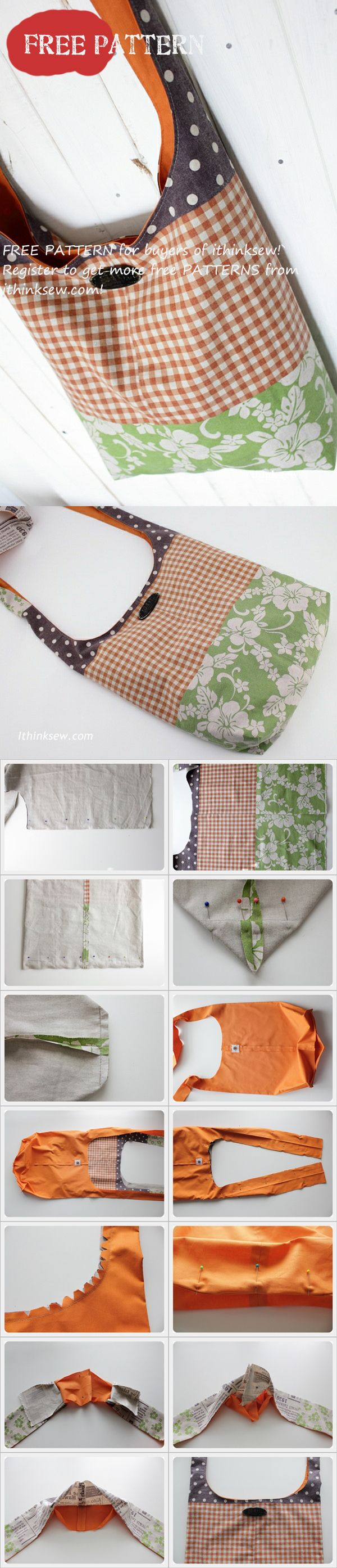 Free Patterns for buyers - Alex Messenger Bag