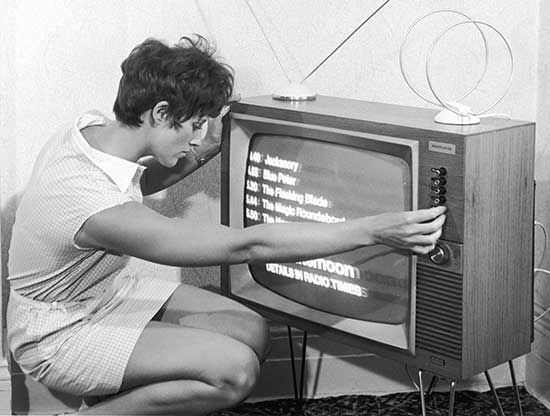 1960's Tuning the TV