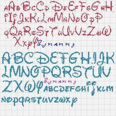 abecedarios en punto de cruz para imprimir - Buscar con Google