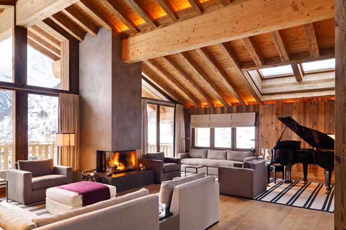 Beautiful and warm house in mountains