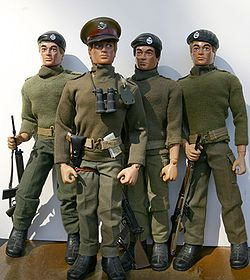Action Man. I love these. Especially the bearded naval type (not shown). Yum!