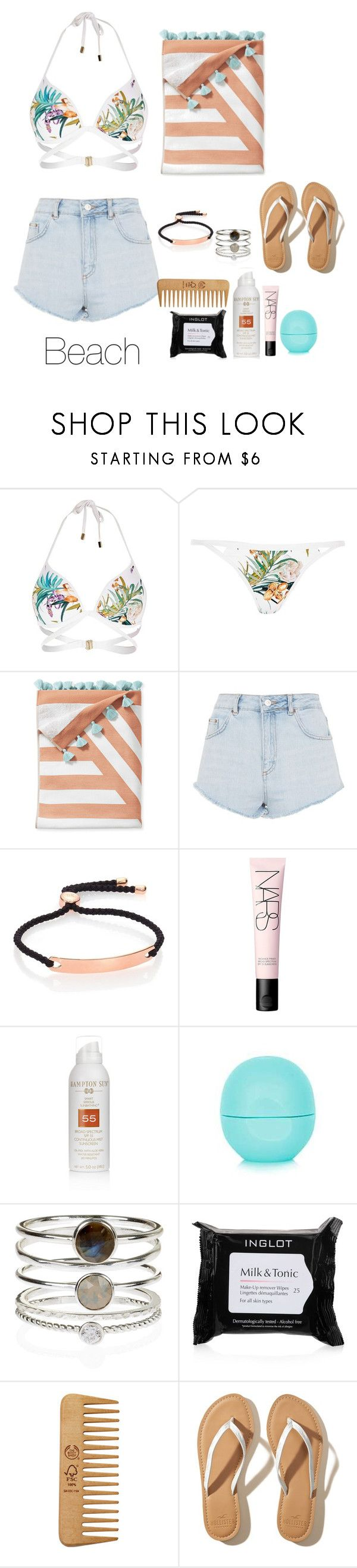 """Sem título #1086"" by army-forever on Polyvore featuring moda, River Island, Serena & Lily, Topshop, Monica Vinader, NARS Cosmetics, Hampton Sun, Eos, Accessorize e Inglot"