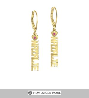 Linear Name and Birthstone Earrings. Sale price: $169.99