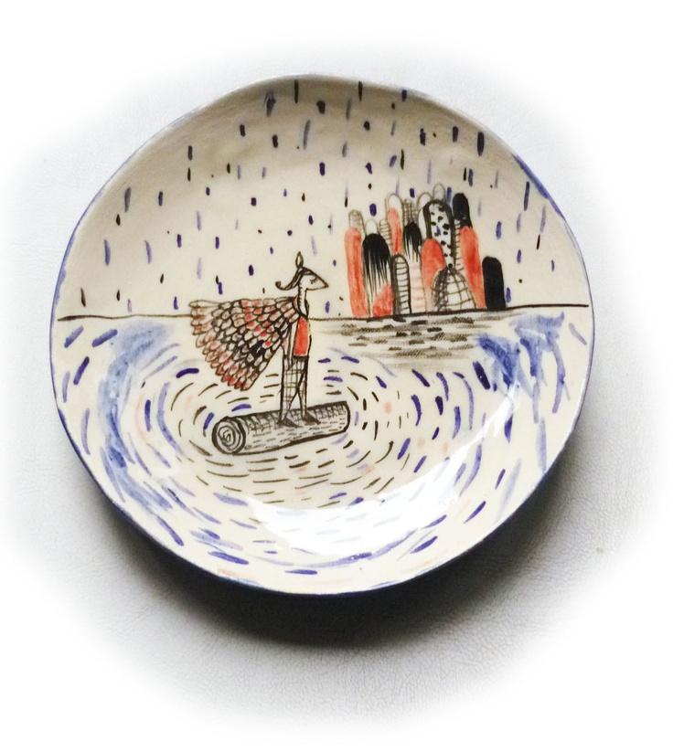 plate.  www.ceramicailustrada.blogspot.com