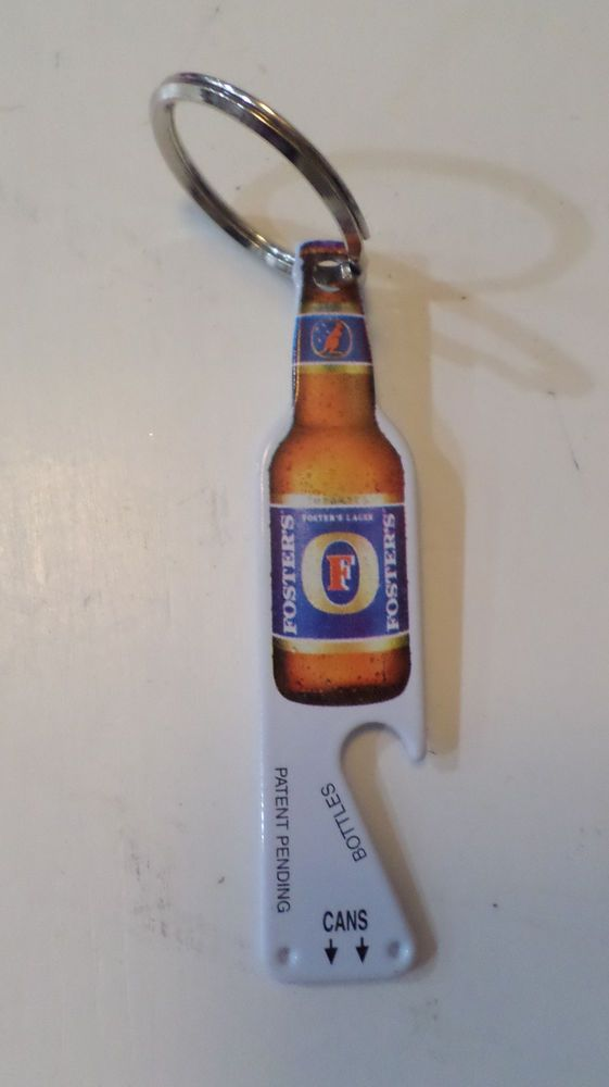 Foster's Beer Bottle & Can Opener w/ Keychain - Metal Keychain Bottle Opener NEW #Fosters