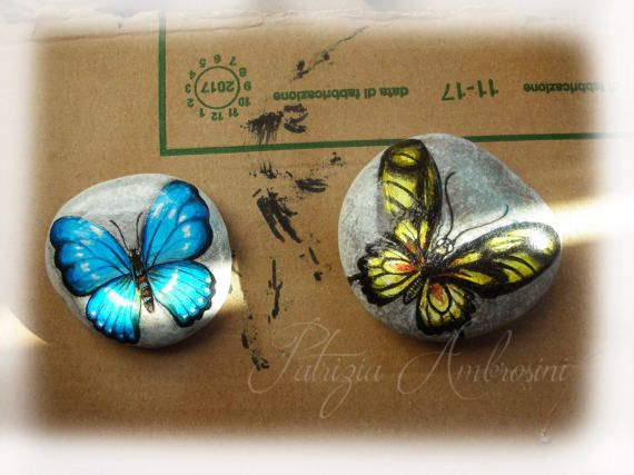 BUTTERFLY No. 10  Hand-Painted Stone   .... .... .... .... .... .... .... .... .... .... .... .... .... .... .... .... .... .... .... .... .... .... .... .... .... .... .... .... .... .... .... .... ....  ============================== ==================&#...
