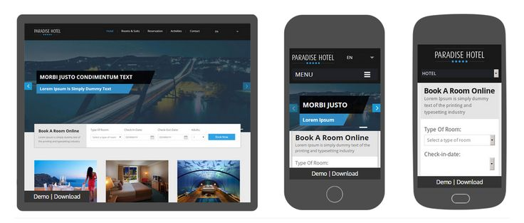 12 Free Hotel Website Templates