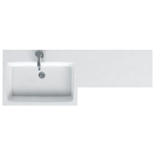 MyPlan left hand 1200 polymarble basin and integrated top
