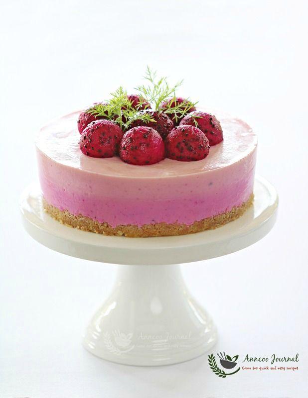 Red Dragon Fruit Cheesecake 火龙果芝士蛋糕 - Anncoo Journal