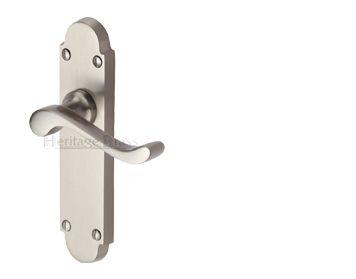 \u0027Savoy\u0027 Satin Nickel Door Handles - SAV-SN (sold in pairs)  sc 1 st  Pinterest & 61 best door furniture images on Pinterest | Door furniture Cremone ...