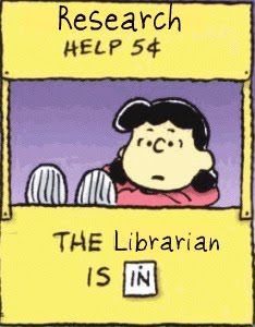 Research help, 5 cents. The librarian is in.