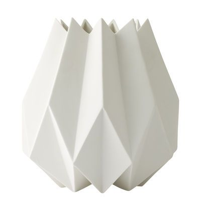 Folded Vase - Clay - Ø 13 x H 23 cm White by Menu - Design furniture and decoration with Made in Design