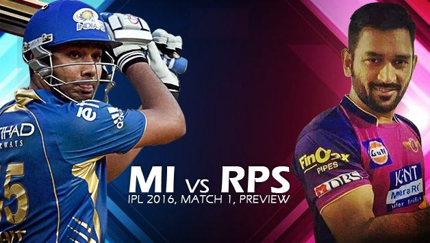 Mum Indians v Rising Pune Supergiants IPL 9 1st Match Prediction – Latest Online Cricket Prediction