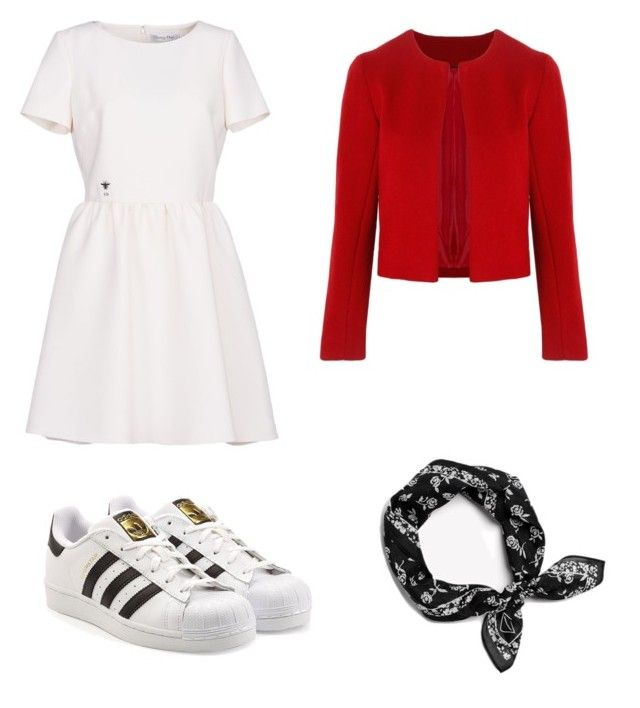 """Red"" by maleja-castro-torres on Polyvore featuring moda, Christian Dior, adidas, rag & bone y Related"