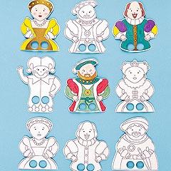 Tudor Colour in Finger Puppets