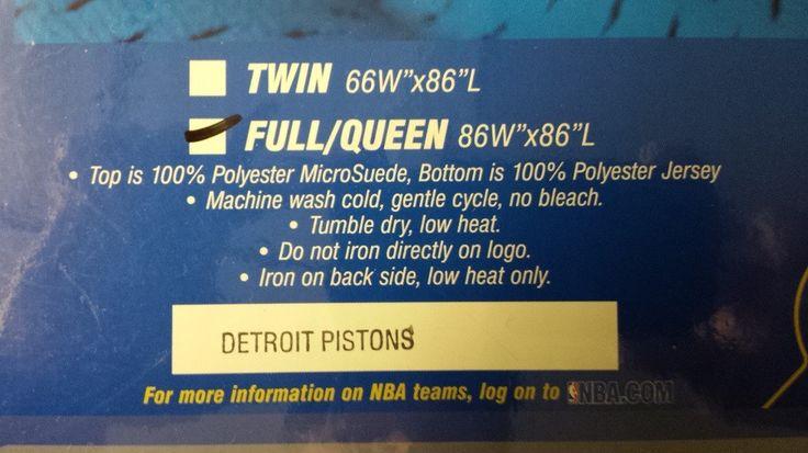 NBA Detroit Pistons Basketball Design Full / Queen Comforter