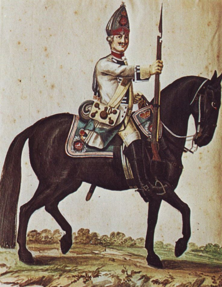 Hanover in the Seven Years War: Grenadier of Dragoon Regiment von Walthausen by Karsten