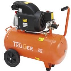 Air comprimé : Compresseurs : Compresseur d'air à huile 50 litres, 2 CV, 8 bars sur roues. Bricolez comme un pro ! ivré avec une rallonge extensible de 4 mètres et une soufflette.moteur avec carter d'huile