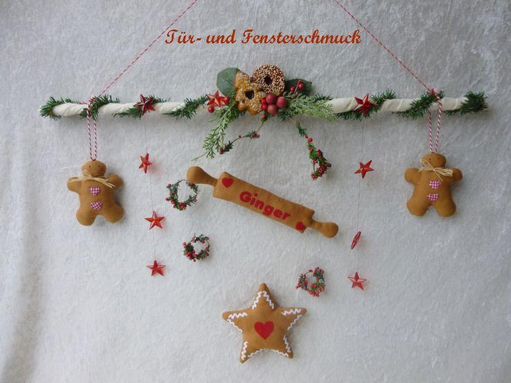 weihnachtliche Türkranz / Mobile von Die Geschenkidee auf DaWanda.com