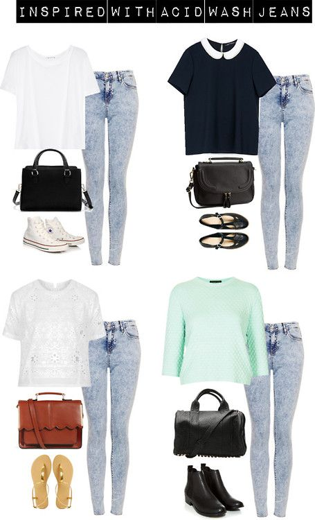Inspired with acid wash jeans by zoella-clothes