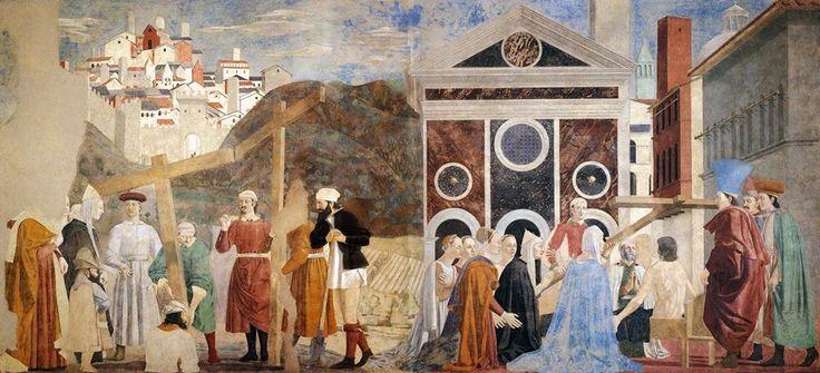 Ritrovamento della Vera Croce realizzato da Piero della Francesca