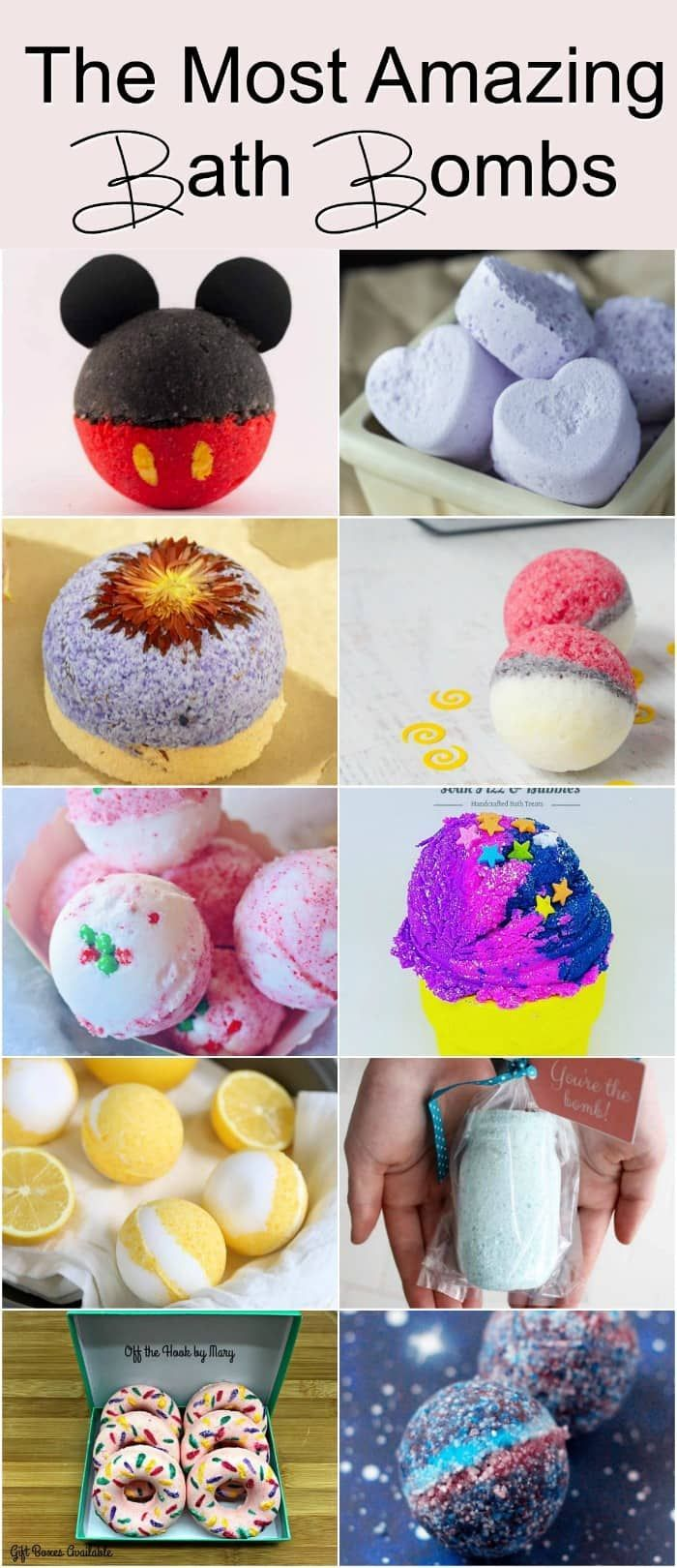 The Most Amazing Bath Bombs - these DIY bath bomb recipes make amazing DIY holiday gifts or teacher appreciation gifts or anytime DIY gifts!
