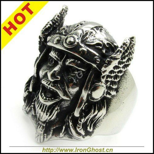 Fashion Men's Stainless Steel Vintage Viking Warrier Ring Gothic Jewely Free Shipping Punk $194,09