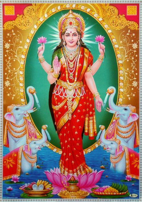 Sri Lakshmi (via ebay: Indian_ash)
