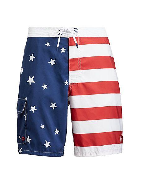 Polo Ralph Lauren - Short de bain Kailua motif drapeau