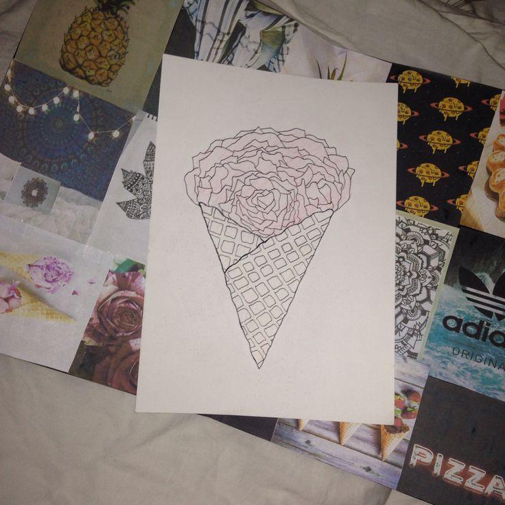 Rose is ice cream cone