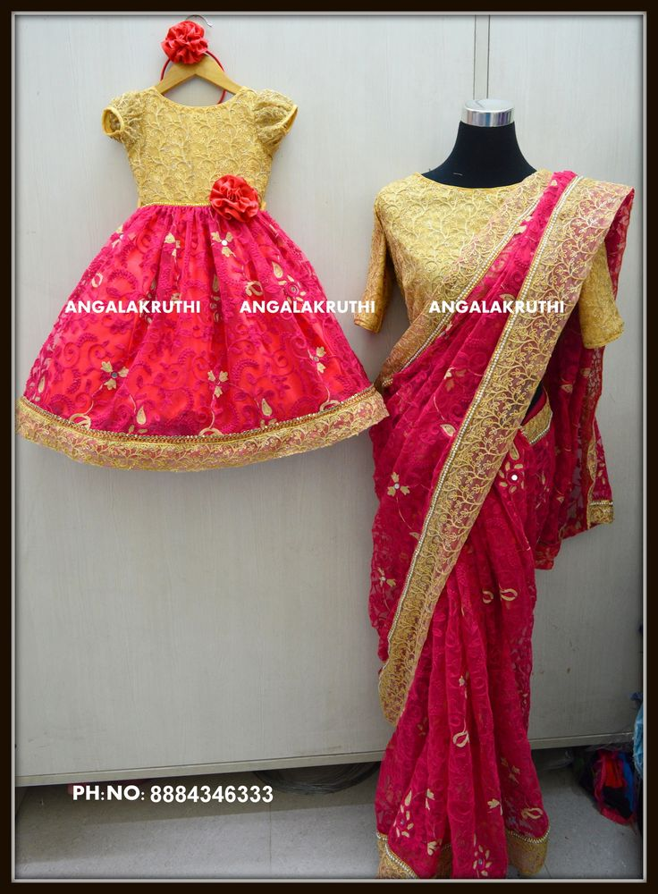 # Mom and Me designs by Angalakruthi-Designer boutique Bangalore  #Mom and daughter dress designs by Angalakruthi watsapp:8884347333  #Custom designs with online order placement service #mom and daughter matching dresses