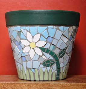 great for old flower pots that dont look as nice anymore.Just mosaic them.
