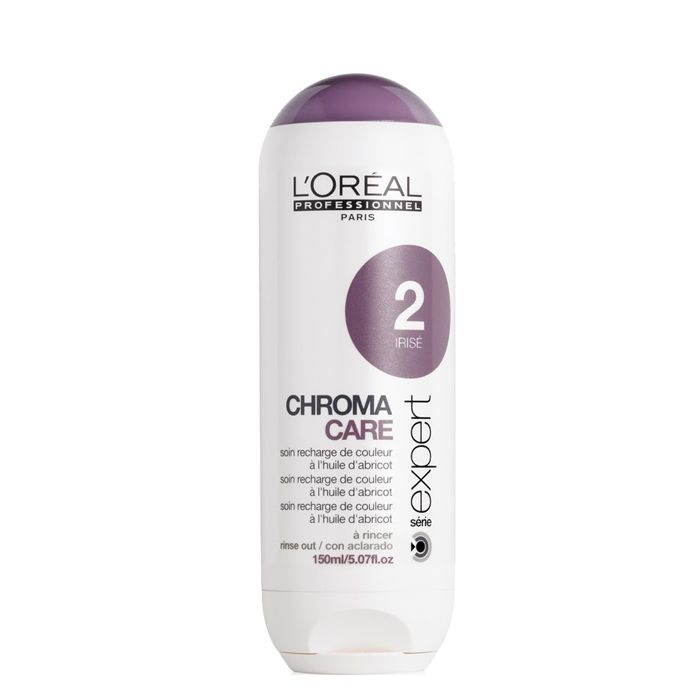 Loreal Chroma Care - İrize No.2 Boyalı saçlarda, saç renginin parlaklığını ve canlılığını korumak içindir. İrize ve soft sarı tonlarındaki saç renkleri için kullanımı uygundur. Saç rengini daha belirgin bir hale getirerek, parlaklık ve canlılık verir. Zamanla canlılığını yitiren boyalı saçlarda tekrar boyaya gerek duyulmadan saç rengini yeniler. Günlük kullanıma ve tüm saç tipleri için kullanımı uygundur.  www.elizehair.com